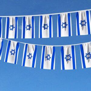 שרשרת דגלי לאום מבד באורך 10 מטר