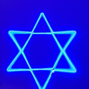 להיט !!!! מגן דוד מואר מידה 1*1 מ' תאורת לד – מוגן מים